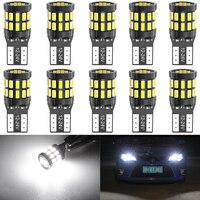Bombillas LED Canbus T10 para BMW E90, E60, blanco, 168, 501, W5W, luces interiores para automóvil, 12V, 6000K, rojo, ámbar, amarillo y azul, 10 Uds.