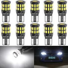 10 pçs t10 led canbus lâmpadas para bmw e90 e60 branco 168 501 w5w conduziu a lâmpada cunha luzes interiores do carro 12 v 6000 k vermelho âmbar amarelo azul