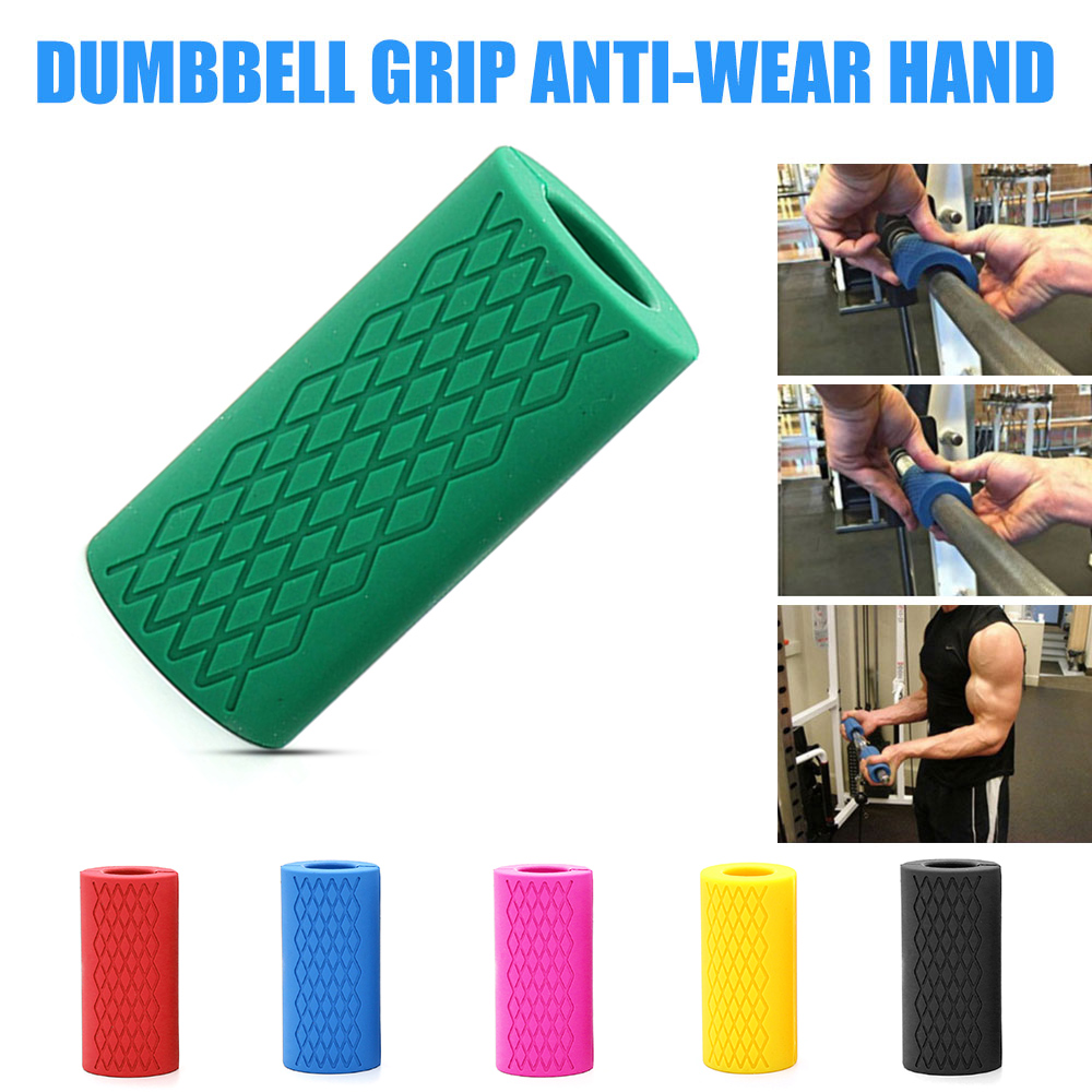 Barbell Grip Solide 1 stücke Silikon Anti Tragen Hand Freien Sport Körper Sculpting Muscle Gym Zubehör Fitness Ausrüstung 6 Farbe