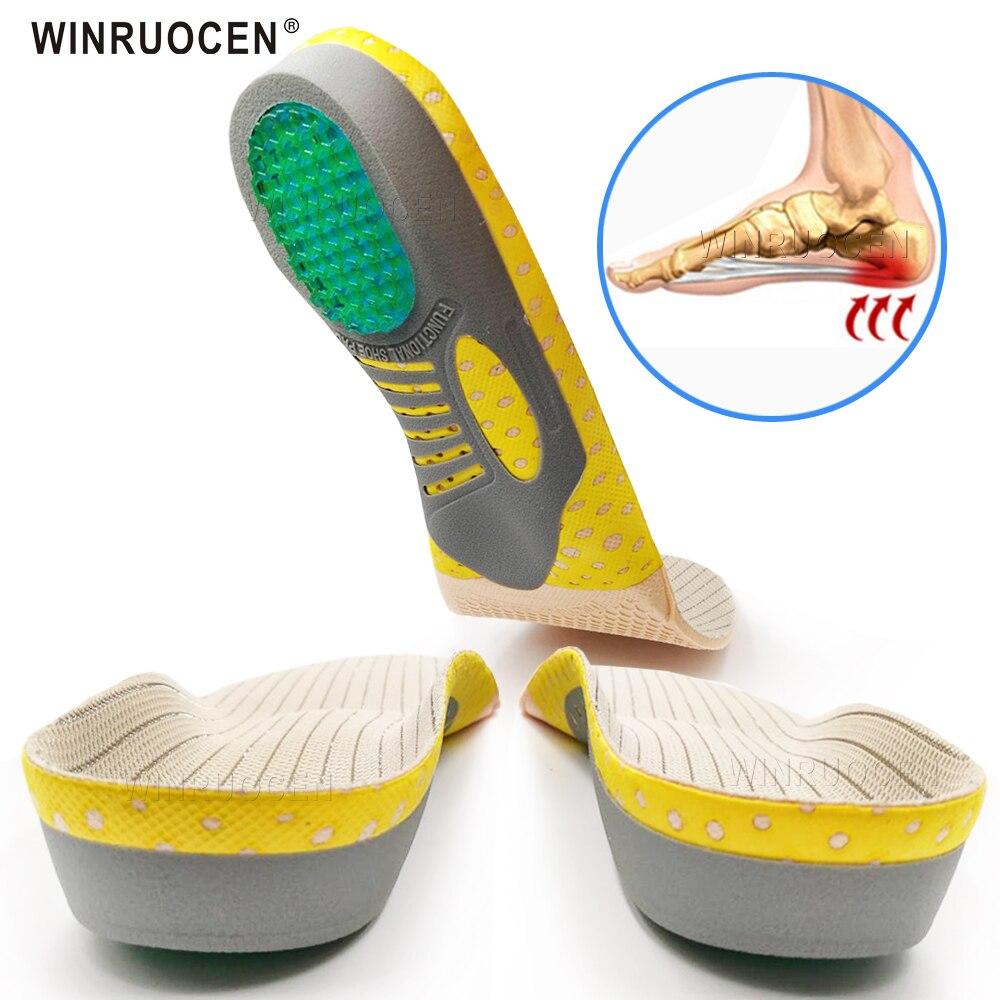 Alta qualidade pvc palmilhas ortopédicas plana pé saúde única almofada para sapatos inserção homem e mulher almofada para plantar fasciite pés cuidados