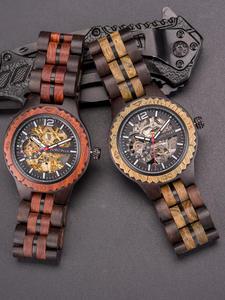 Automatic Watch Mechanical-Watch Dodo Deer Wrist Waterproof Wood D18 Couple Saati Erkek
