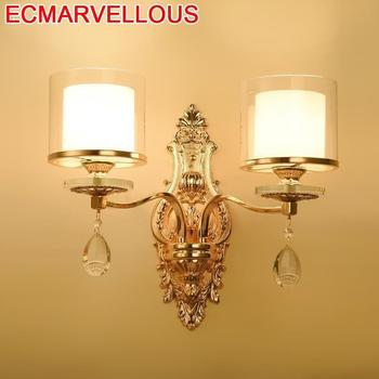 Vanity Aplique De Pared Wandlampen Arandela Aplik Lamba Crystal LED Bedroom Light Applique Murale Wandlamp Luminaire Wall Lamp