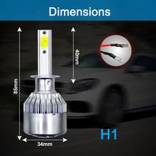 C6 H1 LED Headlight Hulbs H1 H4 H7 H11 HB4 9005 HB3 9006 Car Headlight Bulbs 72W 8000LM Car Accessories 6500K 8000K Fog Light(China)
