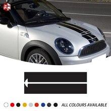 Наклейка на капот автомобиля ралли линии капот полосы крышки двигателя наклейка для MINI Cooper R58 R59 F56 F55 R55 R60 R52 R56 JCW аксессуары
