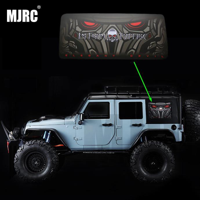 MS 1/10RC Simulation Climbing Car Wrangler TOPFIRE Devil Eye Back Side Window Stickers Side Window Stickers AXIAL SCX10II 90046