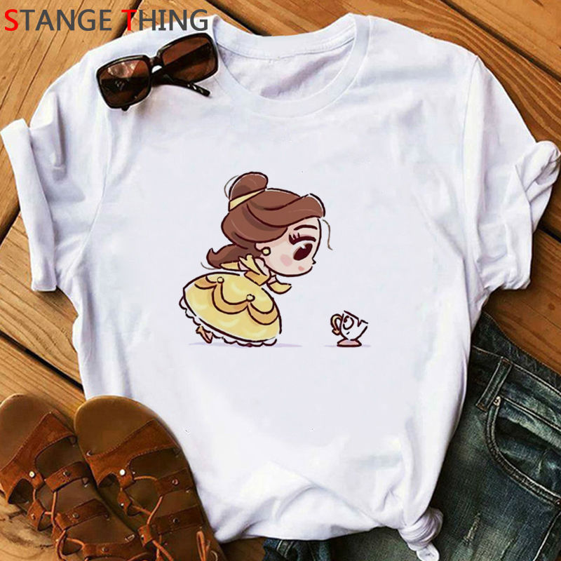 Vogue Princess Kawaii Harajuku T Shirt Women Ullzang Cute Anime T-shirt Funny Cartoon Graphic Tshirt 90s Fashion Top Tees Female