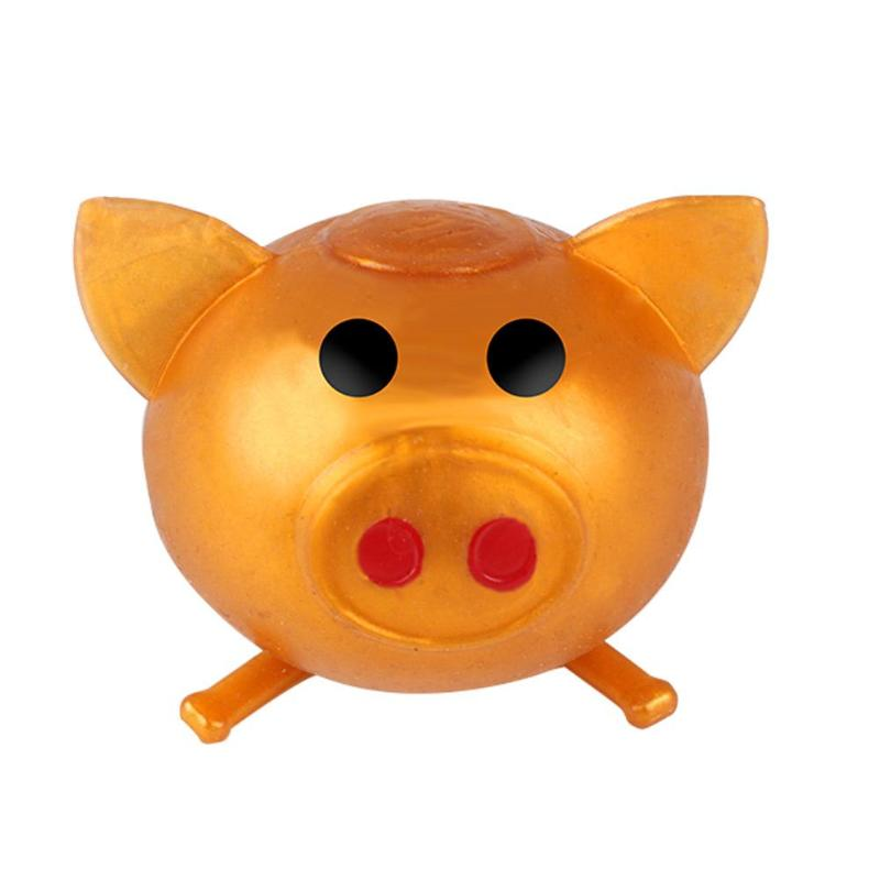 Creative Cartoon Pig Head Vent Ball Decompression Water Lifelike Soft Super-strong Viscous Plastic Polo Stress Adult Toys