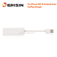 Erisin ES222 CarPlay Dongle USB Android voiture SatNav boîte miroir BT pour iPhone IOS Android Auto