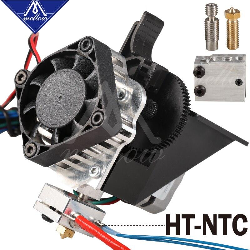 Livraison gratuite 3D imprimante pièces Titan Aero V6 hotend extrudeuse kit complet + kit de buse volcan pour bureau reprap mk8 i3 TEVO ANET