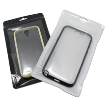 12x21cm 100PCS Zip Lock Cell Phone Case Bag Resealable Plastic Clear Pouch with Hang Hole for iPhone 8 Plus X 7 Plus Shell Pack