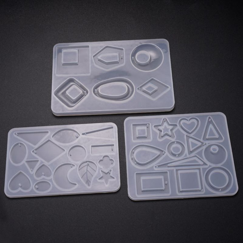 Silicone Pendant Mold For Resin Acrylic Jewelry Tools Earring Necklace Pendant Resin Mold Casting Mold Jewelry Making
