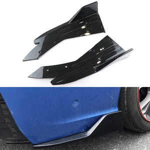 Universal de fibra de carbono parachoques del coche alerón trasero labio ángulo divisor difusor Winglet alas Anti-choque modificado cuerpo del coche falda lateral