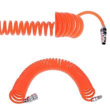 6M/9M Polyurethan PU Luft Kompressor Schlauch Rohr Flexible Luft Werkzeug Mit Stecker PP20 Frühling Spiral Rohr für Kompressor Luft Werkzeug