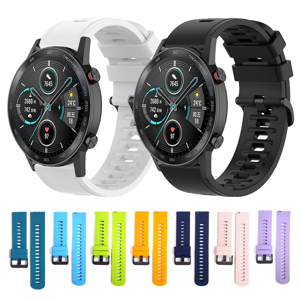 Watchband Wrist Strap For HONOR Magic Watch 2 46mm 42mm Silicone Band MagicWatch2 Smartwatch Replaceable Accessories Bracelet