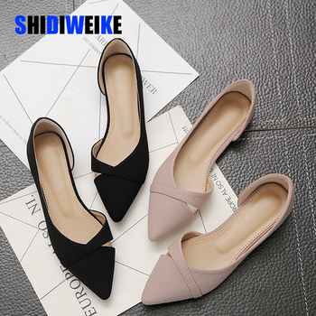 Fashion Casual Flat Shoes Woman New Summer Breathable Comfortable Soft-soled Shoes Pointed Toe Shallow Flat Women Shoes AB056 fedonas new arrival gray pink women low heels casual shoes comfortable four season pointed toe loafers shoes woman