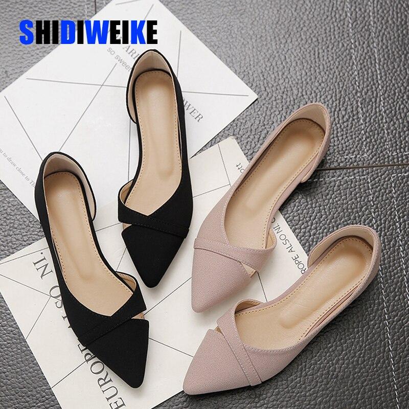 Zapatos planos informales de moda para mujer, nuevos zapatos planos transpirables y cómodos de verano con suela suave, zapatos planos con punta estrecha para mujer AB056