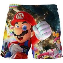 Mario dos desenhos animados crianças verão nadar shorts bebê meninos meninas roupas de banho da criança crianças moda impressão maiô praia calças curtas