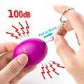 Самооборона сигнализация 100dB яйцо Форма девушка Для женщин защиты безопасности предупреждение персональный Безопасность крик громкий бре...