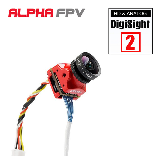 Foxeer Digisight 2 ננו 720P דיגיטלי 1000TVL אנלוגית להחלפה 4ms חביון FPV מצלמה תואם עם כריש Byte