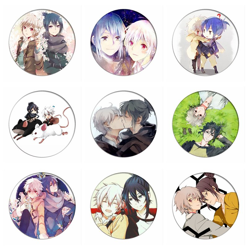 Anime No.6 Cosplay Badges Shion Brooch Icon Nezumi Collection Bags Breastpin For Backpacks Clothing