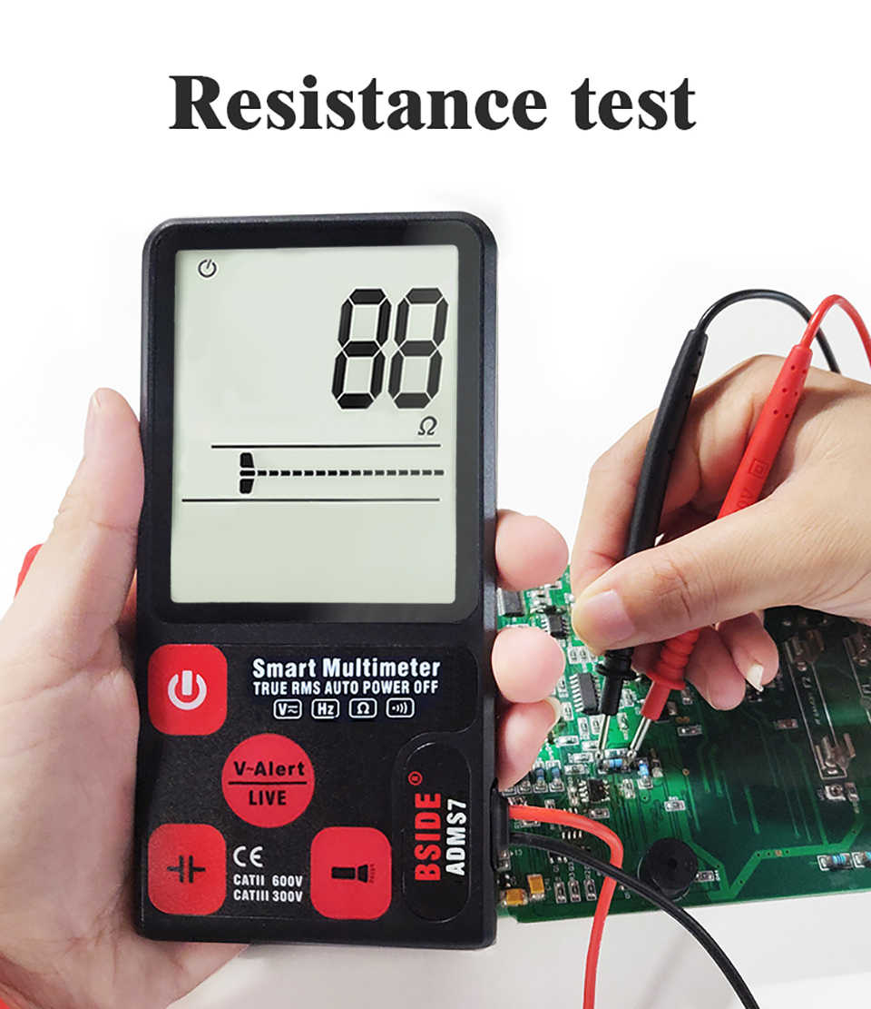 Danme ADMS7CL Digital Multimeter 3.5 inch Large LCD Digital Smart Voltmeter TRMS 6000 Counts DMM Slim Multimeter