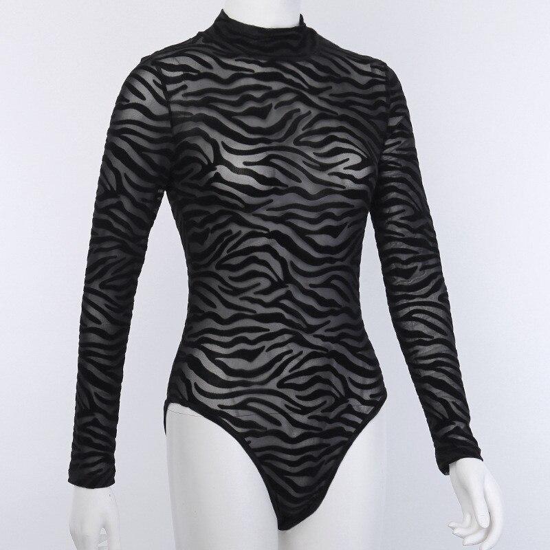 turtleneck mesh bodysuit women12
