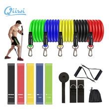 Dr.Qiiwi elastik direnç bantları setleri sakız Fitness ekipmanları germe kauçuk çekme bandı Yoga eğitimi için egzersiz egzersiz