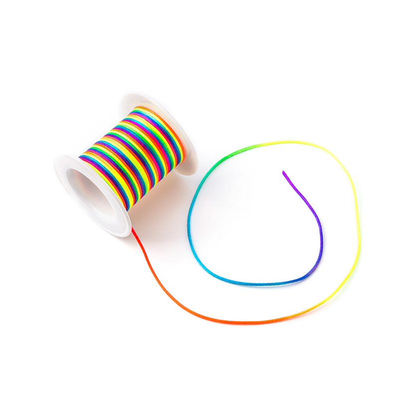 Wholesale 20m/lot Nylon Cord For Teething Necklace Making Satin Cords Pacifier Clip Chain Accessory String Baby Teething Toy DIY