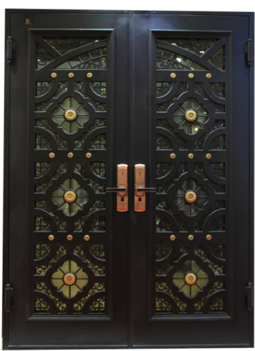 Shanghai Hench Custom Design Luxury Wrought Iron Doors Design For Australia And United States Top Villas