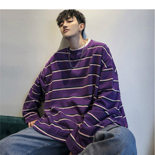Men Striped Plaid Sweatshirts 2019 Mens Harajuku O-Neck Hoodies Male Loose Pullover Streetwear Skateboard Hoodie XL