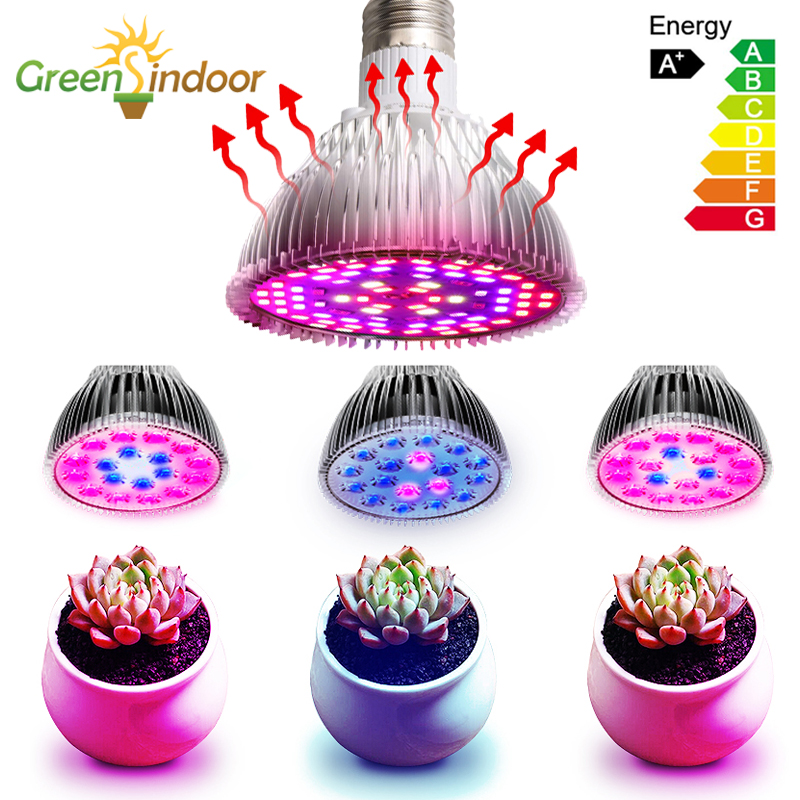 80W LED Grow Light Bulb Full Spectrum Led Grow Lights Bulbs E26/E27 UV For Plants Indoor Garden Fitolampy Fitolamp Growing Lamp