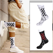 Men White Socks  Cotton Camouflage Fashion Black Happy Crew Individuality  Breathable Gifts for Funny crew Socks