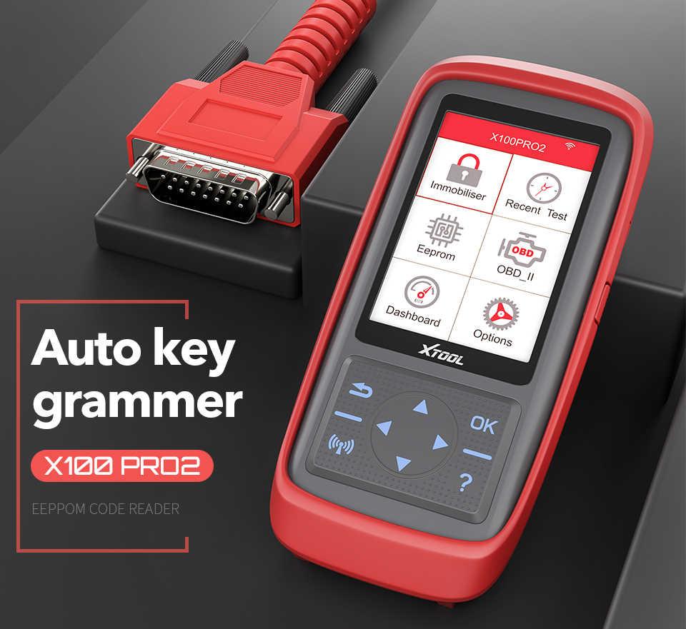 Xtool X100 Pro OBD2 Auto Key Programmeur/Kilometerstand Aanpassing Inclusief Eeprom Code Reader Met Gratis Update