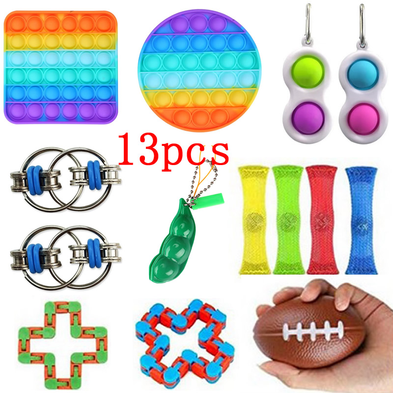 Kids Gift Toys-Pack Fidget Anti-Stress-Set Simpel Dimpel Relief-Tabletop Squeeze Push Bubble img2