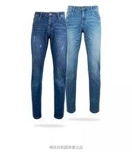شاومي بنطلون جينز قطني للرجال ، موضة كلاسيكية ، فضفاض ، مريح ، نحيف ، غير رسمي ، مستقيم ، مرن