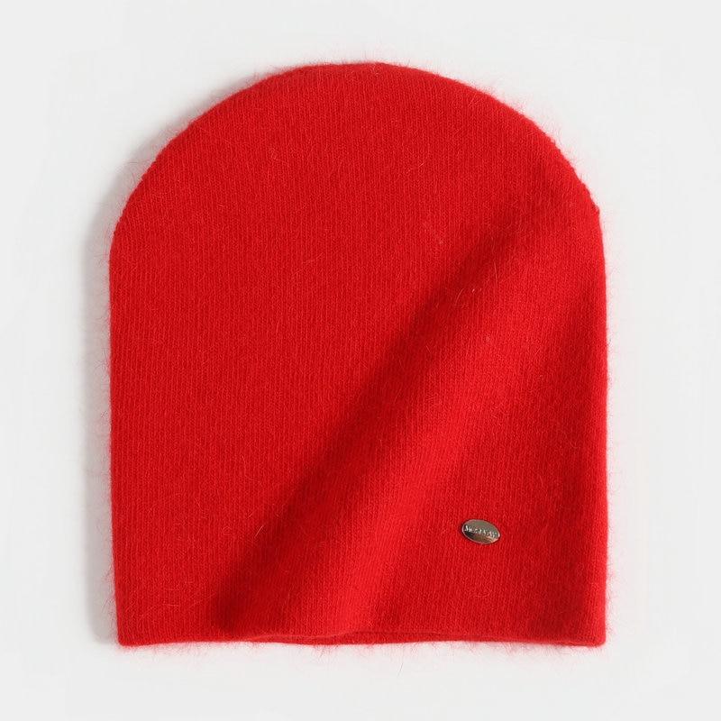 Rabbit Hair Winter Hats For Women Beanies Warmth Ski Cap Girl 's Hat Female Cap Skullie Artificial 2019 New Fashion Hat