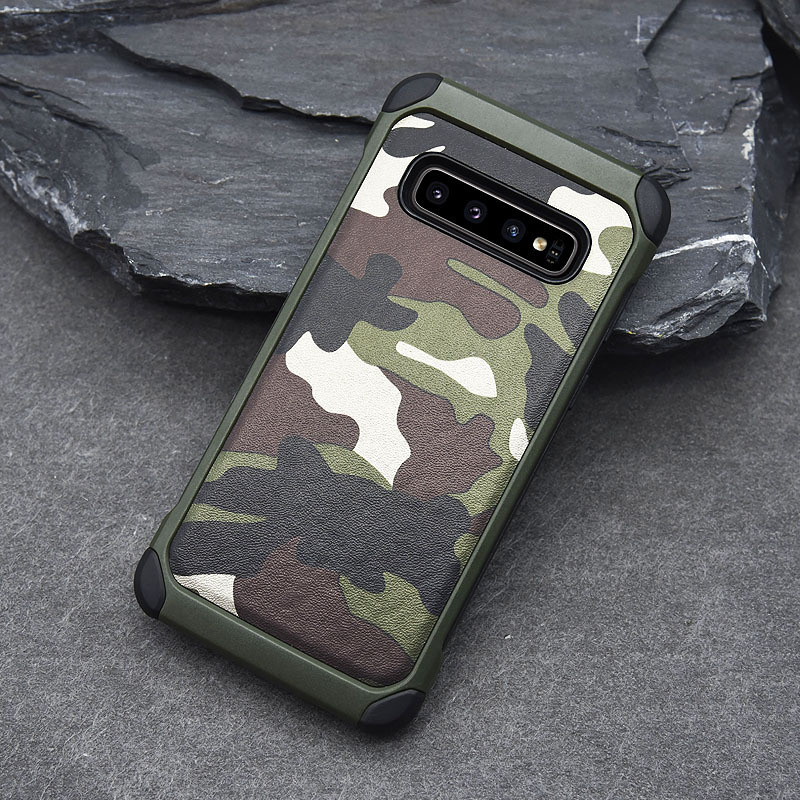 Army Camo Shockproof Cover Case For Samsung Galaxy S10 S10e Camouflage Armor Cover Case For Samsung Galaxy S10 Plus Case Coque
