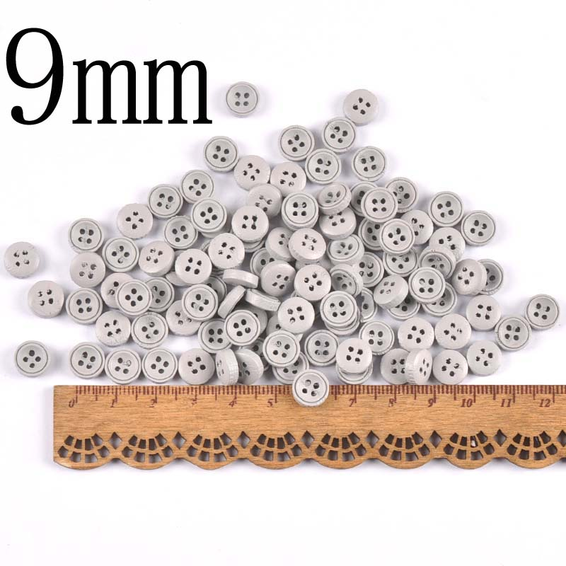 100 шт 9 мм/10 мм деревянные декоративные пуговицы для пришивания одежды Скрапбукинг ремесла домашний декор MT2519 - Цвет: 2