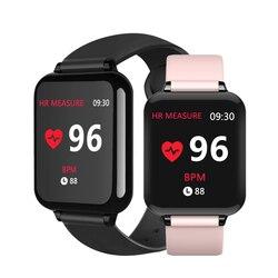 B57 akıllı saatler su geçirmez spor iphone telefon Smartwatch nabız monitörü kan basıncı fonksiyonları için kadın erkek çocuk