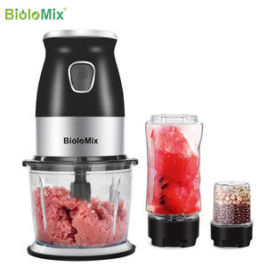 Image 2 - BPA FREE 500W Portable Personal Blender Mixer Food Processor With Chopper Bowl 600ml Juicer Bottle Meat Grinder Baby Food Maker