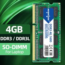 Heoriady ddr3 4 gb 8gb para computador portátil 1600 mhz memória ram ddr3l macbook compatível 1333 mhz 4 gb 1.5v 1.35v