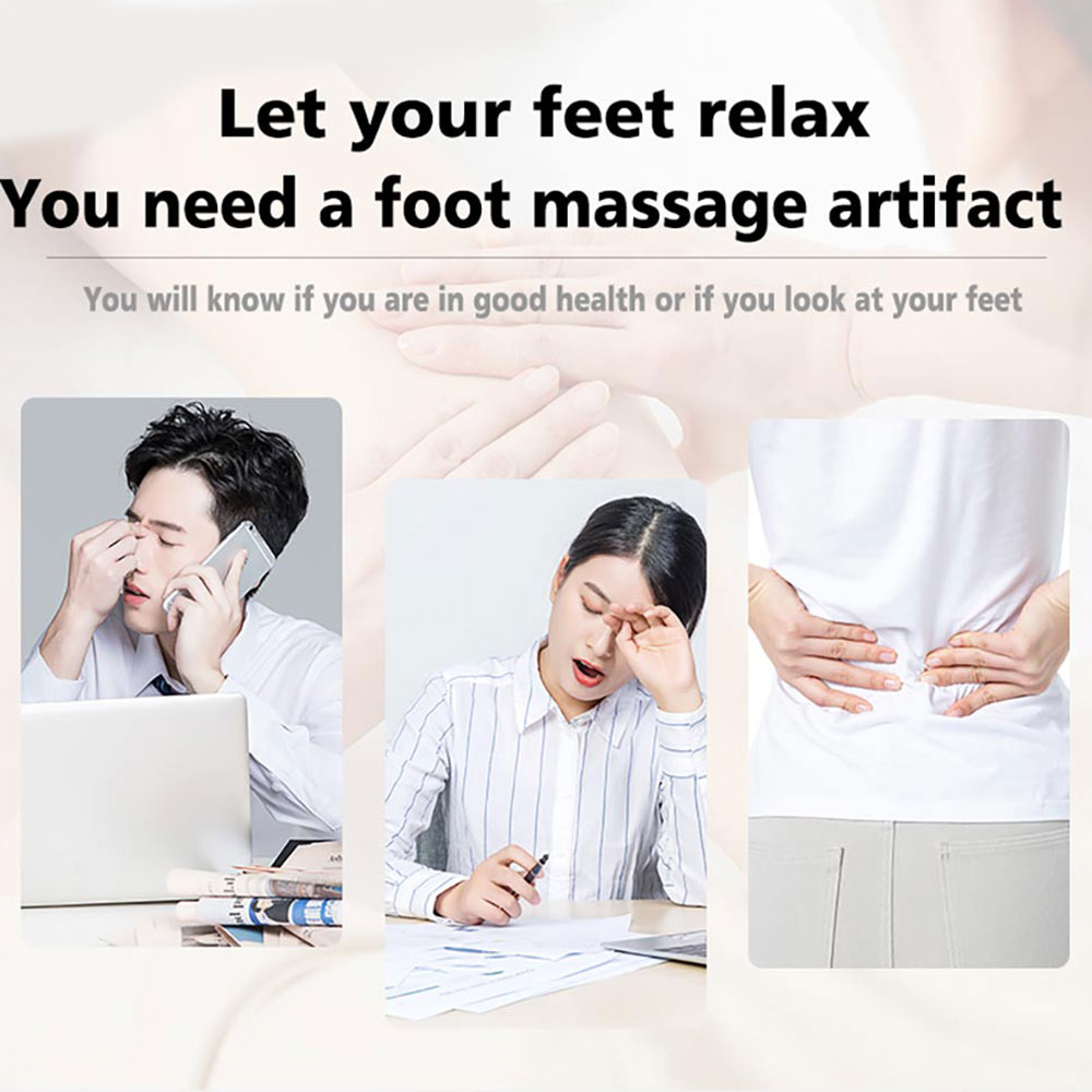 Image 3 - Electric EMS Foot Massager ABS Physiotherapy Revitalizing Pedicure Tens Foot Vibrator Wireless Feet Muscle Stimulator Unisexaid kitfirst aid kitemergency bag -