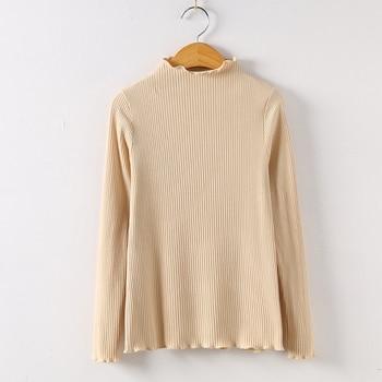 2019 Long Sleeve Shirt Mesh Top Poleras De Mujer Moda Women Shirt Women Cotton T-shirt Women Tops Casual Tee T Shirt 6268 50 - Apricot, S