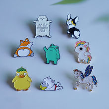 Animal Brooch unisex enamel Pins Lapel Bag Clothes Button Badges Cartoon Jewelry Gift for friends