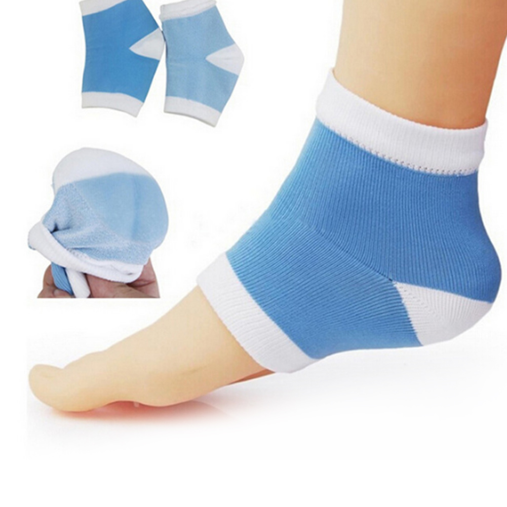 1 Pair Pro Gel Heel Socks Moisturing Spa Gel Socks Feet Care Cracked Foot Dry Hard Skin Protector Hot Selling High Quality