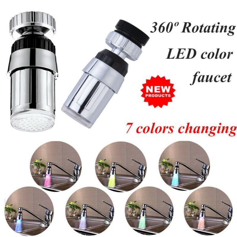 360°Swivel Kitchen LED Faucet Water Temperature Control Sensor Mixer Tap Nozzle