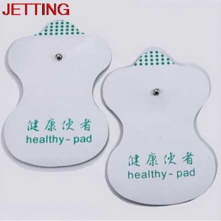 JETTING 1 para = 2 sztuk białe elektrody klocki dla dziesiątki akupunktura terapia cyfrowa maszyna do masażu wygodne narzędzia