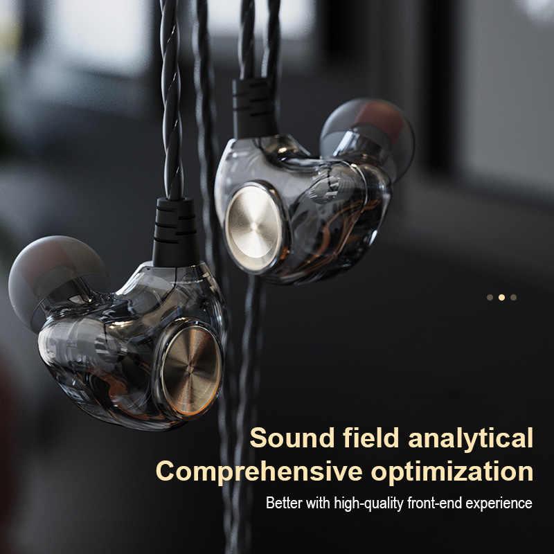 Original fonge k1 transparente in-ear fone de ouvido subwoofer estéreo graves fones de ouvido com microfone para iphone xiaomi alta qualidade