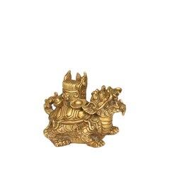 MOZART czysty miedziany smok żółw Sanyuan Jidi rzemiosło dekoracyjne miedziany smok żółw  mały w Posągi i rzeźby od Dom i ogród na