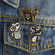 Dark series Punk Enamel Badge Accessories Ghost Bat Demon Books Brooches Creative Trendy Costume Backpack DIY Lapel Pin Jewelry(China)